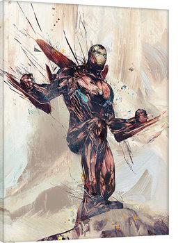 Avengers Infinity War - Iron Man Sketch Billede på lærred
