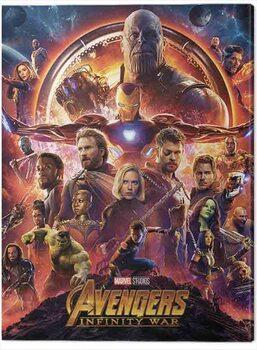 Billede på lærred Avengers: Infinity War - One Sheet