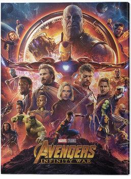 Avengers: Infinity War - One Sheet Billede på lærred