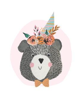 Billede på lærred Birthday Bear