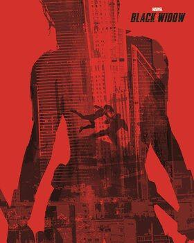 Billede på lærred Black Widow - In the Red