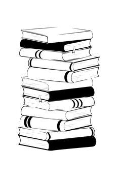 Billede på lærred Books