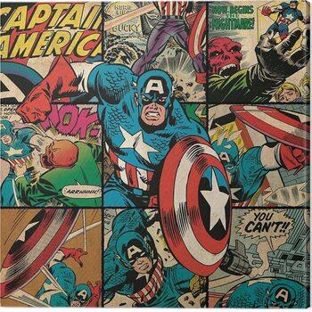 Billede på lærred Captain America - Squares