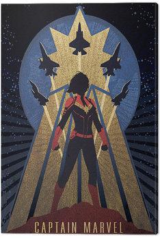 Billede på lærred Captain Marvel - Deco