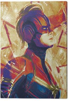 Captain Marvel - Paint Billede på lærred