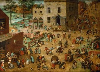 Billede på lærred Children's Games, 1560