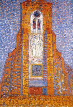 Billede på lærred Church of Eglise de Zoutelande, 1910