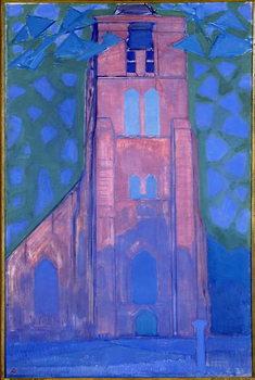 Billede på lærred Church tower at Domburg, 1911