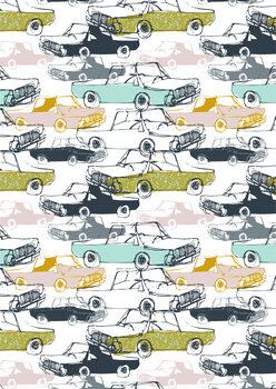Billede på lærred Cool Cars - Pattern