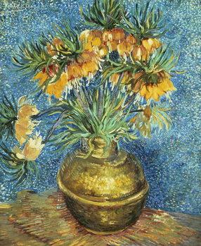 Billede på lærred Crown Imperial Fritillaries in a Copper Vase, 1886