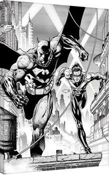 Billede på lærred DC Comics - Batman & Nightwing