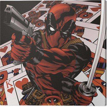 Billede på lærred Deadpool - Cards
