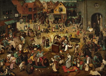 Fight between Carnival and Lent, 1559 Billede på lærred