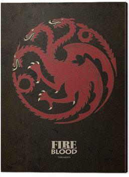 Billede på lærred Game Of Thrones - Targaryen
