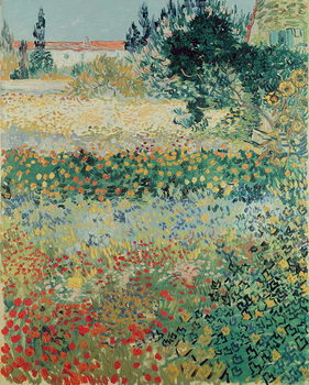 Garden in Bloom, Arles, July 1888 Billede på lærred