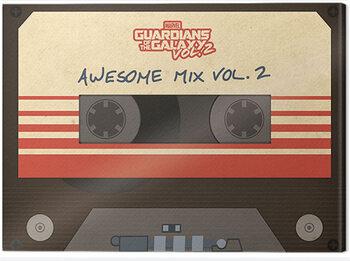 Billede på lærred Guardians Of The Galaxy - Awesome Mix Vol. 2