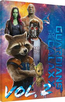 Billede på lærred Guardians Of The Galaxy Vol. 2 - The Guardians