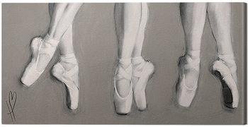 Hazel Bowman - Dancing Feet Billede på lærred