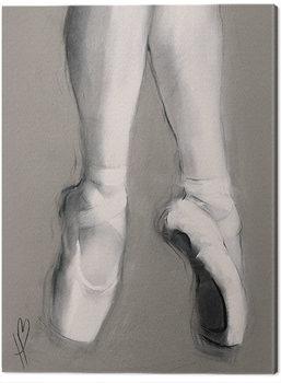 Billede på lærred Hazel Bowman - Dancing Feet II