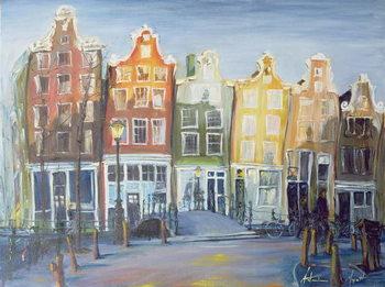 Billede på lærred Houses of Amsterdam, 1999