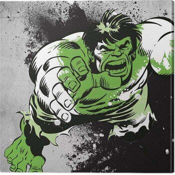 Billede på lærred Hulk - Splatter
