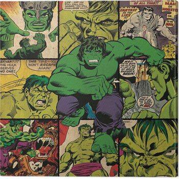 Billede på lærred Hulk - Squares