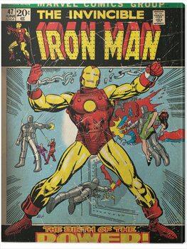 Billede på lærred Iron Man - Birth of Power