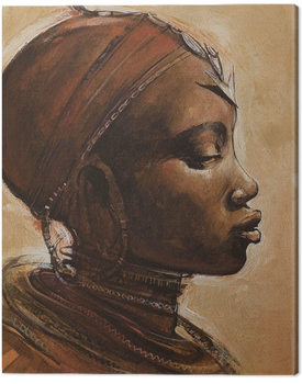 Billede på lærred Jonathan Sanders - Masai Woman I