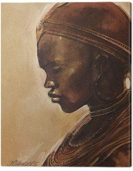 Billede på lærred Jonathan Sanders - Masai Woman II