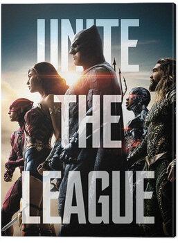 Billede på lærred Justice League Movie - Unite The League