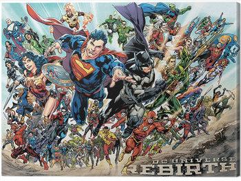 Billede på lærred Justice League - Rebirth