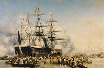 Billede på lærred King Louis-Philippe (1830-48) Disembarking at Portsmouth, 8th October 1844, 1846