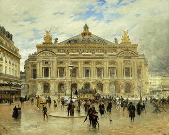 L'Opera, Paris, c.1900 Billede på lærred