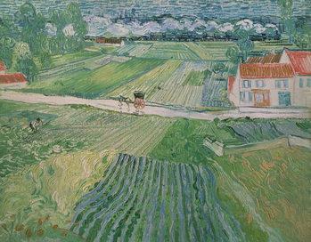 Landscape at Auvers after the Rain, 1890 Billede på lærred