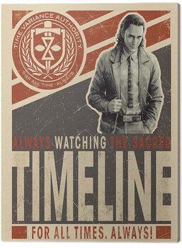 Billede på lærred Loki - Timeline