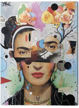 Billede på lærred Loui Jover - Kahlo Anaylitica