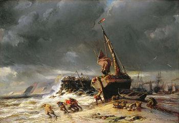 Billede på lærred Low Tide, 1861