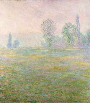 Billede på lærred Meadows in Giverny, 1888