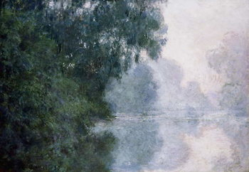 Billede på lærred Morning on the Seine, Effect of Mist; Matinee sur la Seine, Effet de Brume, 1897