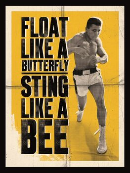 Billede på lærred Muhammad Ali - Float Like a Butterfly
