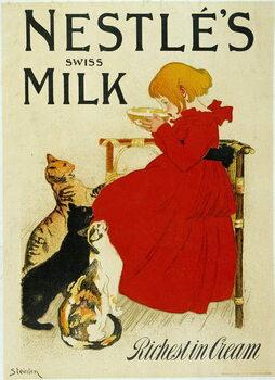 """Billede på lærred Nestle Advertising: """""""" Nestle's swiss milk""""""""."""
