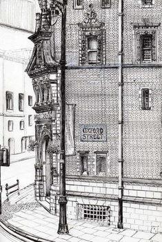 Billede på lærred Palace Hotel,Oxford Street, Manchester, 2012,