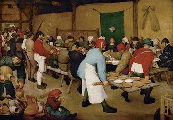 Peasant Wedding, 1568 Billede på lærred