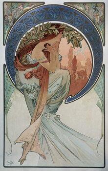 Billede på lærred Poetry - by Mucha, 1898.