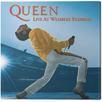 Billede på lærred Queen - Live at Wembley Stadium