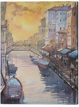 Billede på lærred Rajan Dey - Venice in Late Afternoon