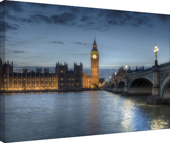Rod Edwards - Twilight, London, England Billede på lærred