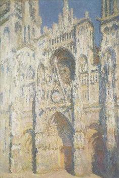 Billede på lærred Rouen Cathedral in Full Sunlight: Harmony in Blue and Gold