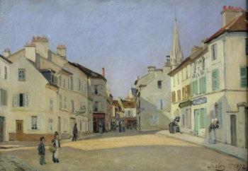 Billede på lærred Rue de la Chaussee at Argenteuil, 1872