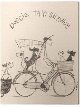 Billede på lærred Sam Toft - Doggie Taxi Servise